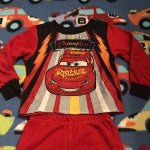Disney Cars 3 fleece pj set 2T